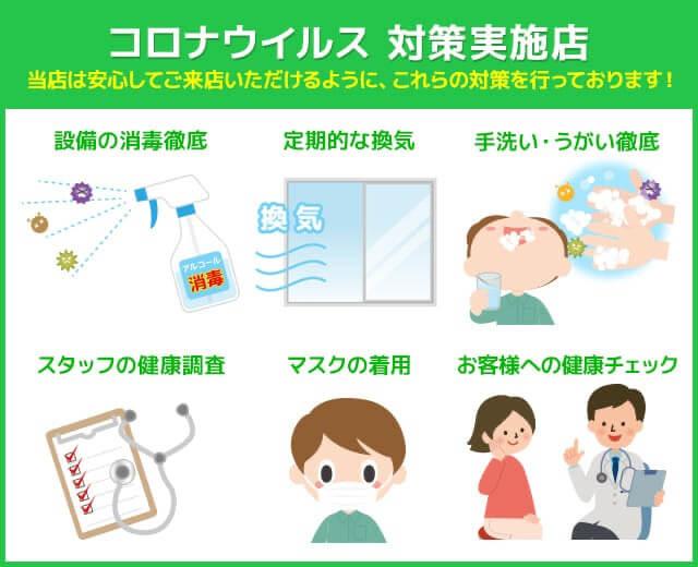 当院はコロナウィルス感染予防対策を行っております